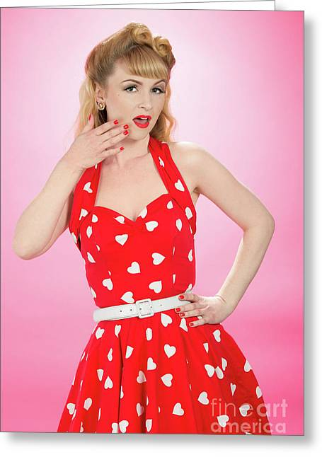 Pin Up Style Greeting Card by Amanda Elwell