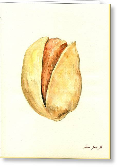 Pistachio Greeting Card by Juan  Bosco