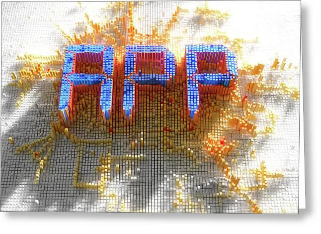 Pixel App Concept Greeting Card by Allan Swart