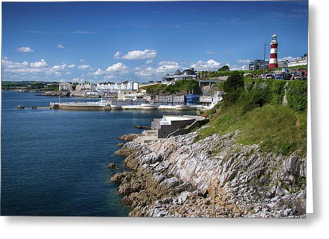 Plymouth Foreshore Greeting Card by Chris Day