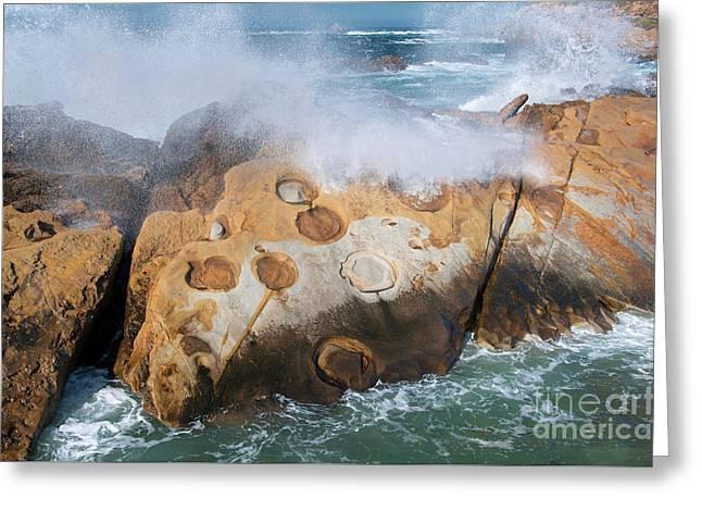Point Lobos Concretions Greeting Card by Glenn Franco Simmons