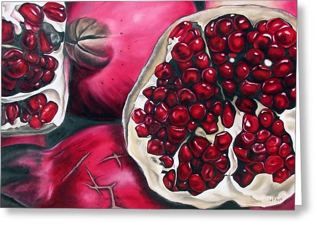 Pomegranates Greeting Card by Ilse Kleyn
