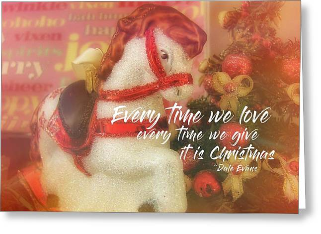 A Pony For Christmas Quote Greeting Card by JAMART Photography