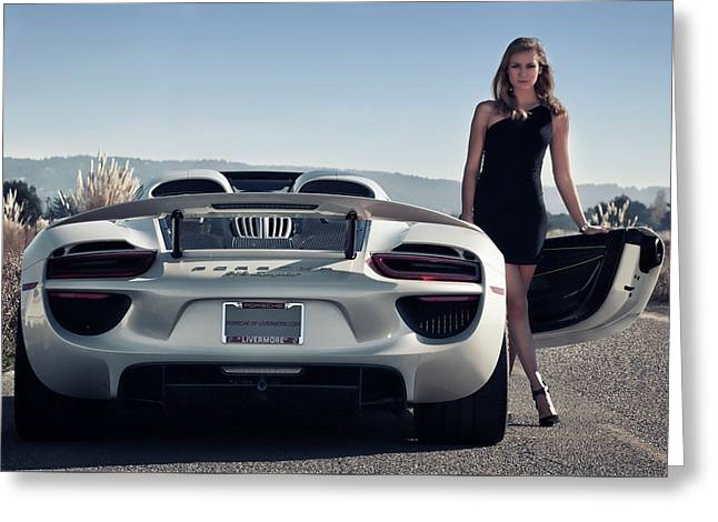 #porsche #918spyder And #kim Greeting Card by ItzKirb Photography