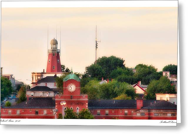 Portland Observatory Greeting Card by Richard Bean