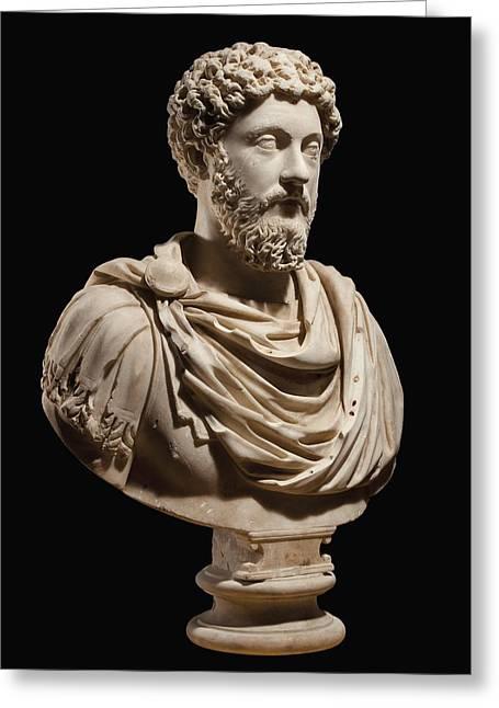 Portrait Bust Of Emperor Marcus Aurelius Greeting Card