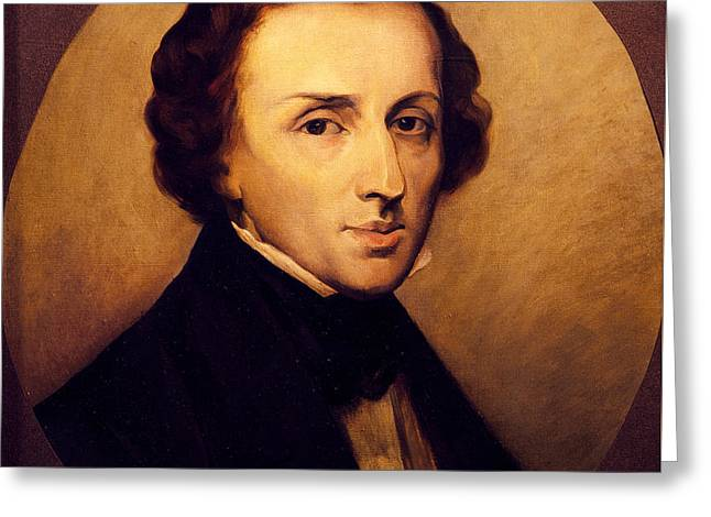 Portrait Of Frederic Chopin  Greeting Card