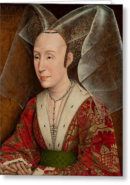 Portrait Of Isabella Of Portugal Greeting Card