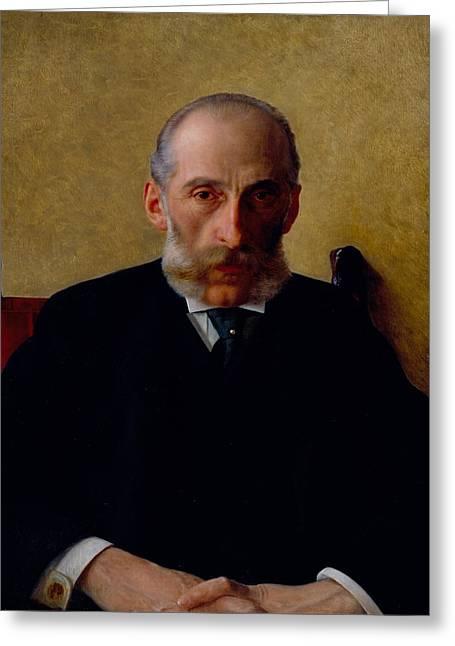 Portrait Of Isidor Gewitsch Greeting Card