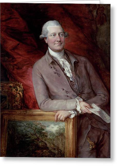Portrait Of James Christie Greeting Card by Thomas Gainsborough