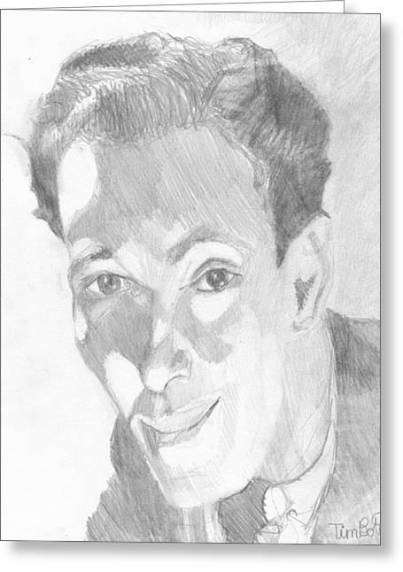 Portrait Of Neville Goddard Greeting Card by Tim Botta