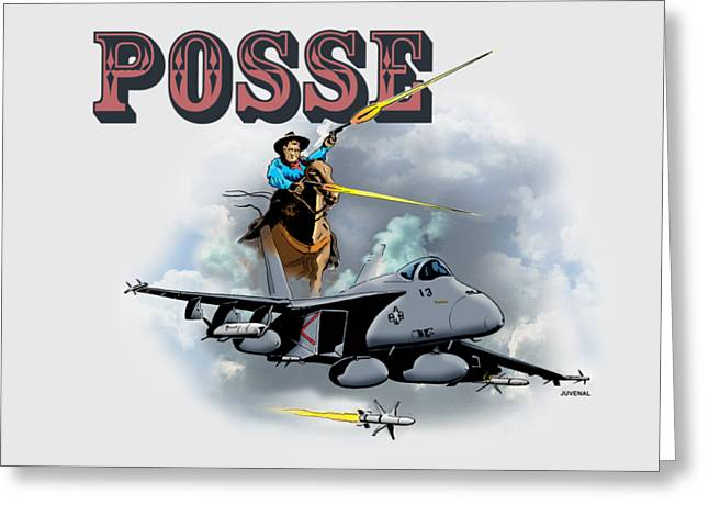 Posse Greeting Card by Joseph Juvenal