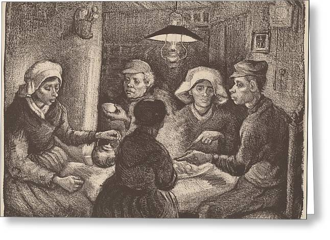 Potato Eaters 1885 Greeting Card by Vincent Van Gogh