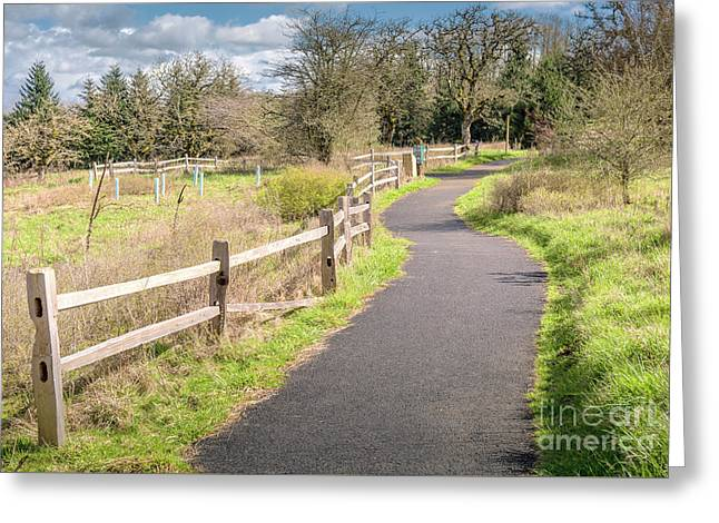 Powell Butte Park In Portland Oregon. Greeting Card by Gino Rigucci