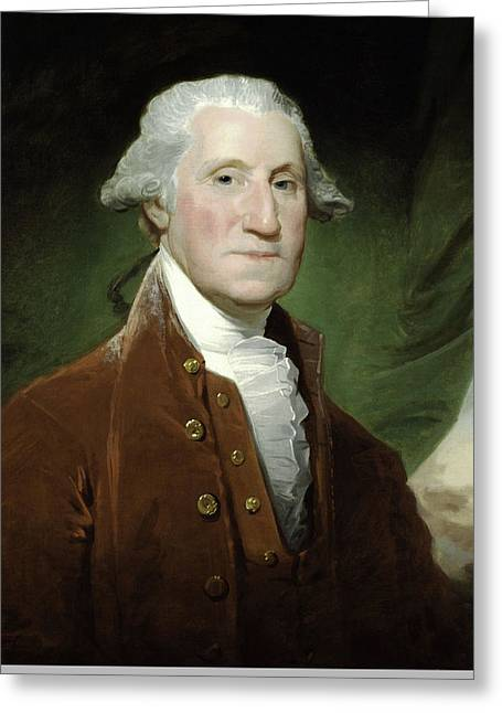 Founding Fathers Mixed Media Greeting Cards - President George Washington Greeting Card by War Is Hell Store