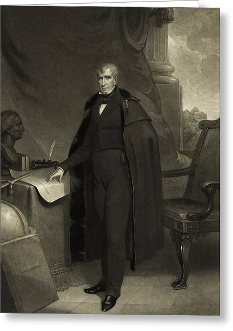 President William Henry Harrison Greeting Card by International  Images