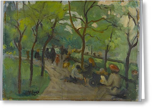 Prospect Park Greeting Card by George Benjamin