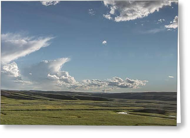 Quiet Prairie Greeting Card by Jon Glaser