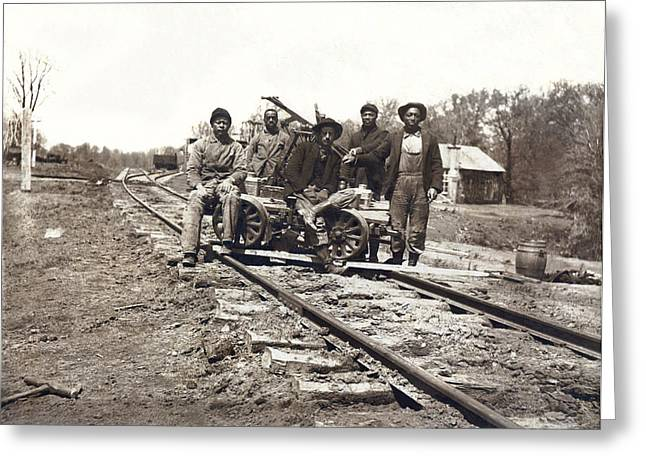 Railroad Workers Greeting Card
