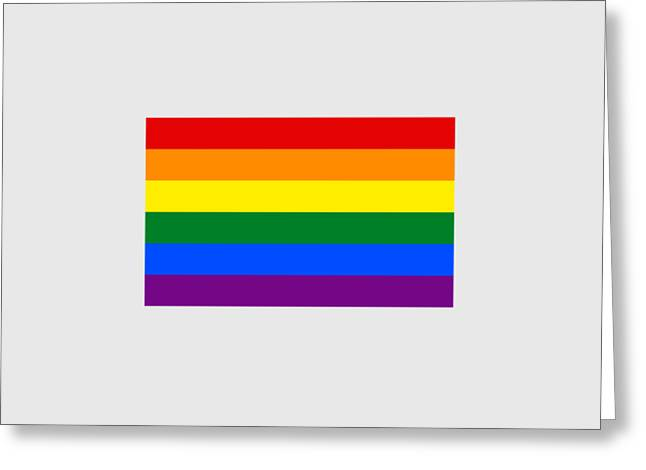Rainbow Flag Greeting Card by Frederick Holiday