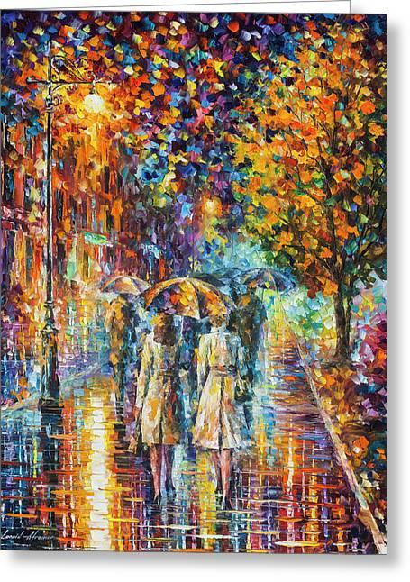 Rainy Evening Greeting Card