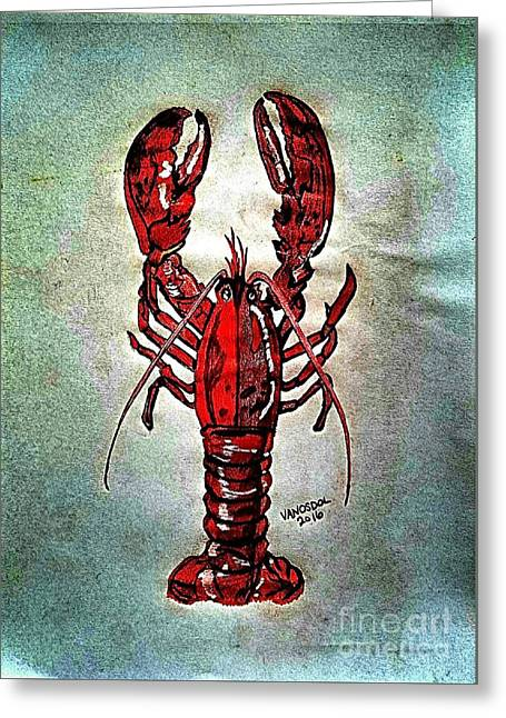 Red Lobster Greeting Card by Scott D Van Osdol