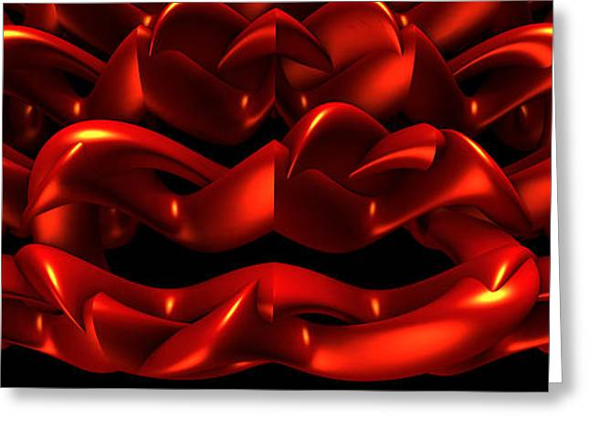 Greeting Card featuring the digital art Red by Lyle Hatch