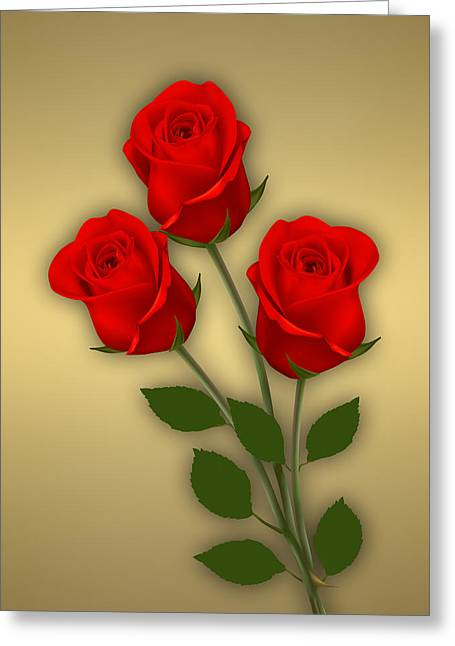 Red Roses Collection Greeting Card by Marvin Blaine