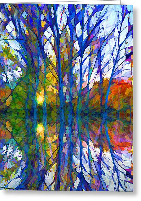 Reflections Greeting Card by Lilia D