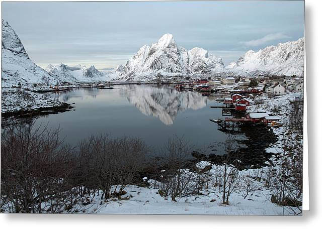 Greeting Card featuring the photograph Reine, Lofoten 4 by Dubi Roman