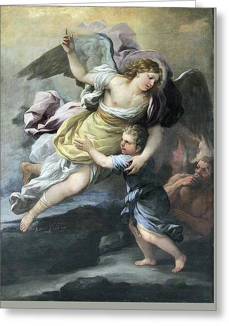 Rendition Of A Guardian Angel Greeting Card by MotionAge Designs
