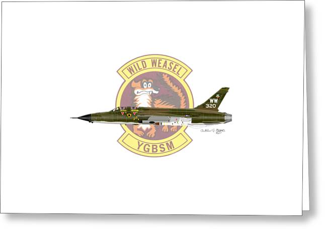 Republic F-105g Thunderchief 561tfs Greeting Card