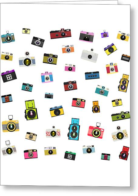 Retro Camera Greeting Card by Setsiri Silapasuwanchai