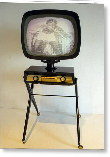Old Tv Photographs Greeting Cards - Retro TV Greeting Card by Matthew Bamberg