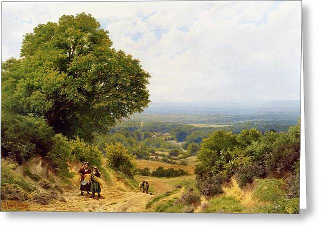 Returning From The Harvest Greeting Card by John Clayton