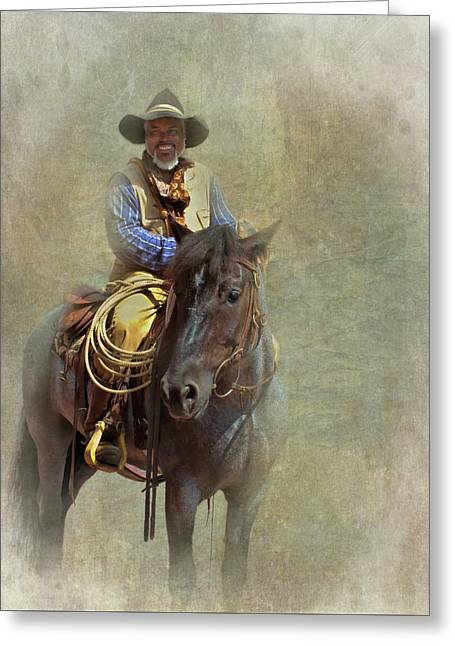 Greeting Card featuring the photograph Ride Em Cowboy by David and Carol Kelly