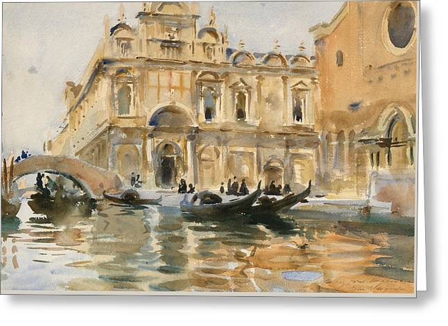 Rio Dei Mendicanti Venice Greeting Card by John Singer Sargent