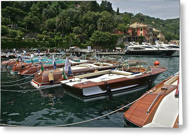 Riva Portofino Greeting Card by Steven Lapkin