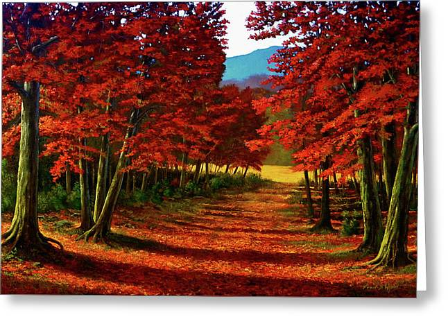 Road To The Clearing Greeting Card by Frank Wilson