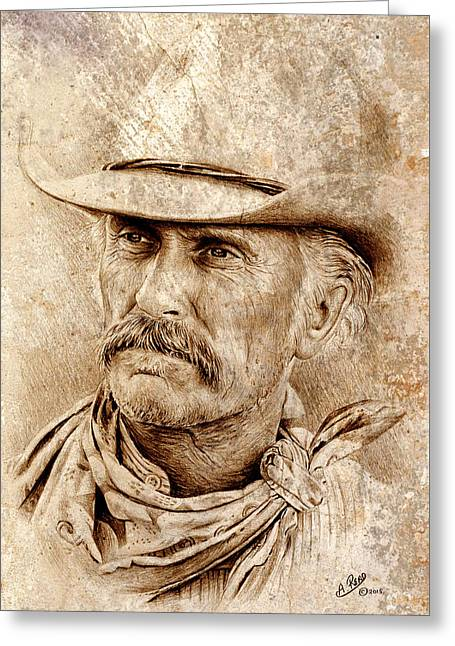 Robert Duvall Greeting Card by Andrew Read