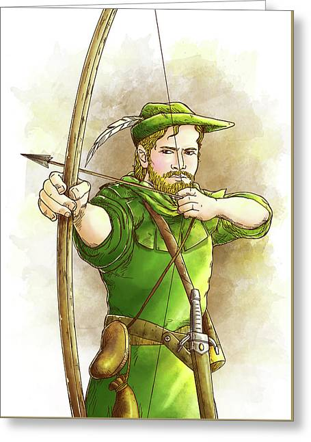 Robin Hood The Legend Greeting Card