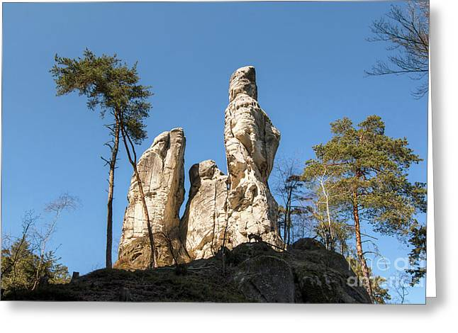 Greeting Card featuring the photograph Rock Formations In The Bohemian Paradise Geopark by Michal Boubin