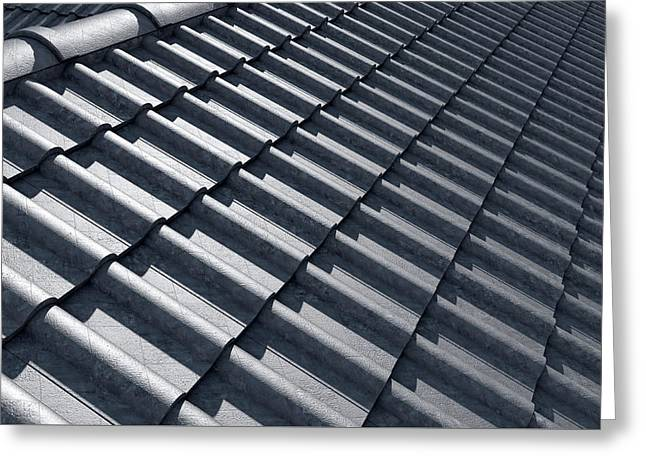 Roof Tiles Design Top Greeting Card by Allan Swart