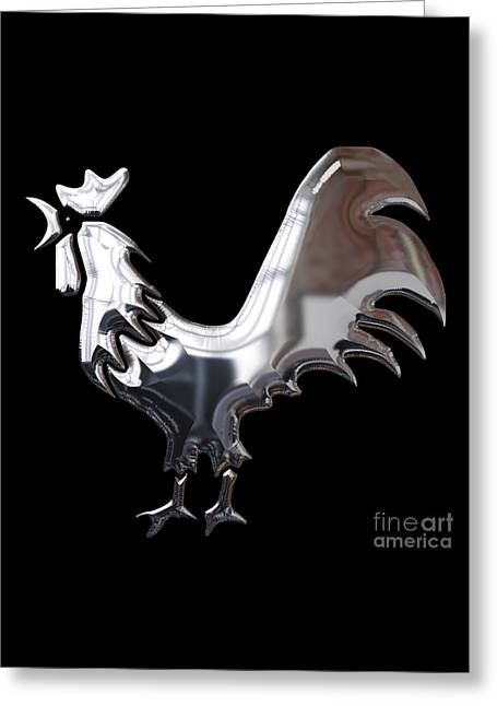 Rooster Collection Greeting Card by Marvin Blaine