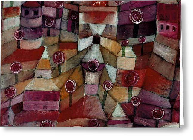 Rose Garden Greeting Card by Paul Klee