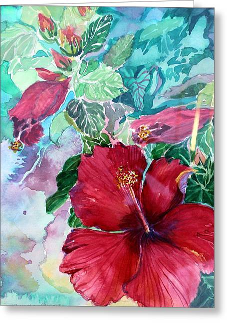 Rose Of Sharon Greeting Card by Mindy Newman