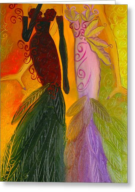 Ruby And April  Greeting Card by Helen Gerro