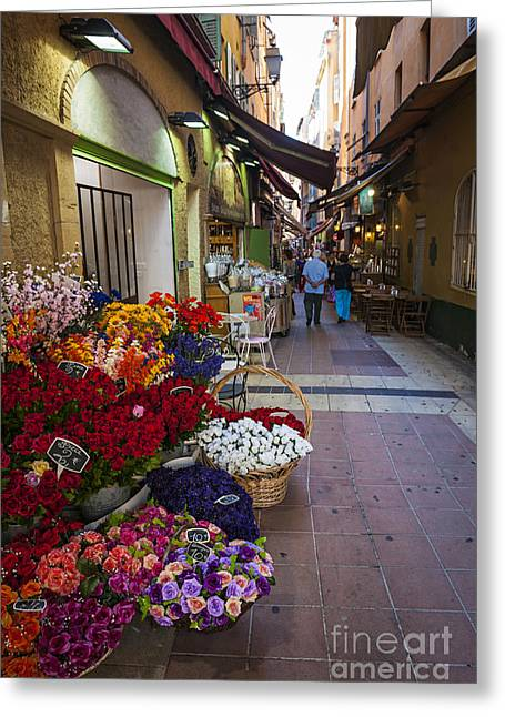 Rue Pairoliere In Nice Greeting Card by Elena Elisseeva