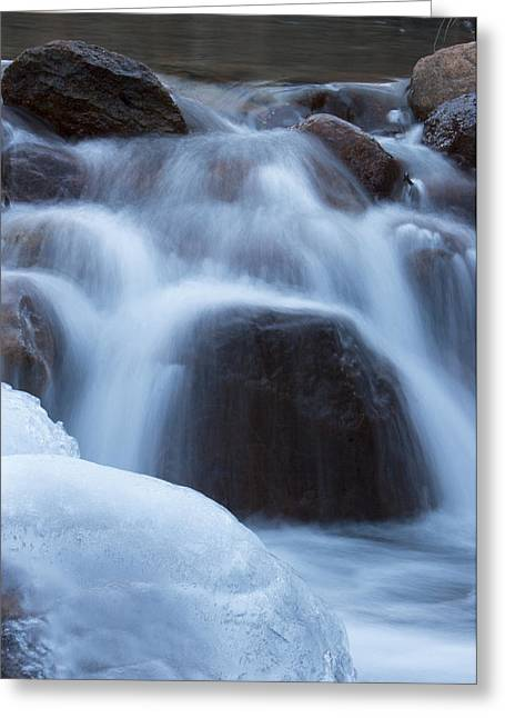 Running Stream Greeting Card by Maureen Bates