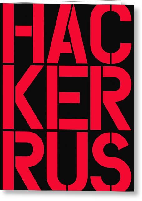 Russian Hacker Greeting Card by Three Dots